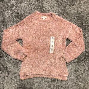 Cat & Jack mockneck fuzzy shimmer sweater 5T